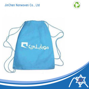 Nonwoven Drawstring Recycled Backpack with Logo Print pictures & photos