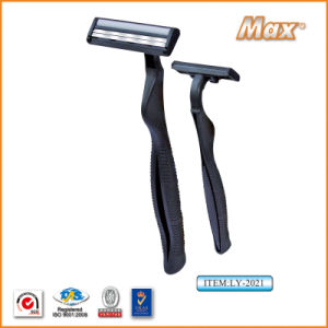 Twin Stainless Steel Blade Disposable Razor Fro Man (LY-2021) pictures & photos