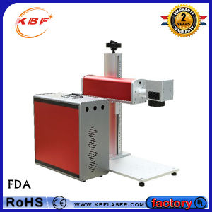 High Precision 3D Mini Fiber Laser Marking Machine for Metal Label / Stainless Steel /Plastic pictures & photos