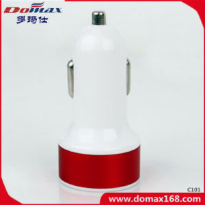 Mobile Phone Gadget 2 USB Adaptor Metal Car Charger Dual pictures & photos