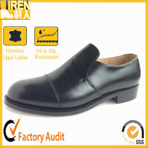 Top Grade Hot Sale Genuine Cow Leather Mens Military Police Office Shoes pictures & photos