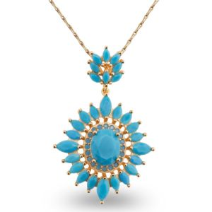 Luxury Blue AAA CZ Stone Design Fashion Charm Jewelry Necklace pictures & photos