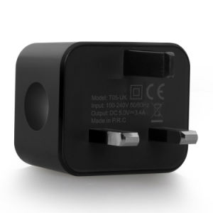 UK Plug Dual USB Wall Travel Charger Pass Ce/RoHS/FCC pictures & photos