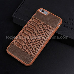 Fish-Scale Pattern Genuine Leather Case for iPhone 6 Plus