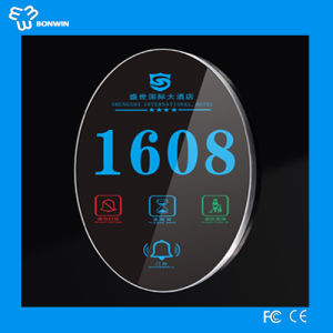 New Model LED Room Electronic Door Number/Name Plate/ Doorplate/ Number Plaque for Hotel/Home/Office pictures & photos