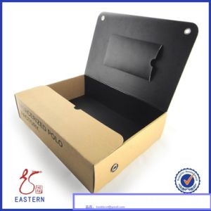 Custom Cardboard Paper Shirt Box Packaging/Shirt Packaging Box with PVC Window Lid pictures & photos
