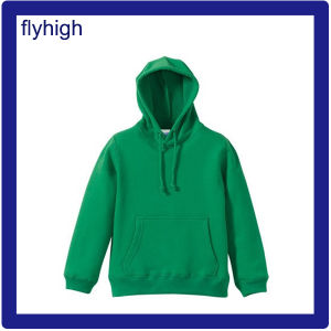 Good Quality Solid Green Hoodie with Custom Logo Printing pictures & photos