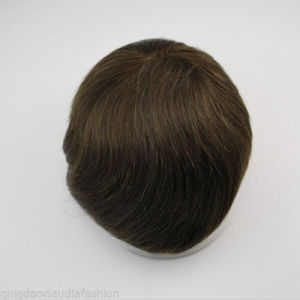 Indian Remy Human Hair Men′s Toupee pictures & photos