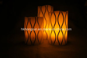 Real Wax LED Candle in Melt Edge (HR96)