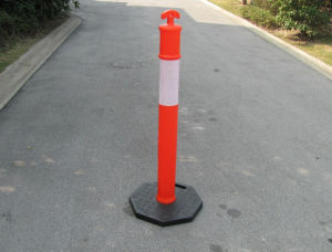 Traffic Sign 1100mm PE Flexible Reflective Warning Post pictures & photos