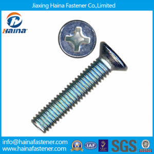 Carbon Steel DIN965 Blue Zinc Plated Phillips Csk Head Machine Screws pictures & photos
