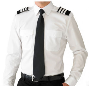Long Sleeve Uniform Security Pilot Shirt with Pencil Pockets pictures & photos