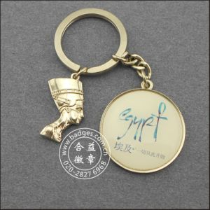 Gold Plated Keychain, Heart Shape Cartoon Key Ring (GZHY-YSK-0027) pictures & photos