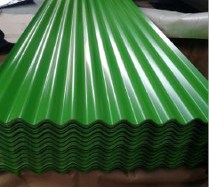 Glass Green Galvaized Corrugated Roofing Sheet for House pictures & photos