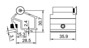 Good Standard Joint Corner Hl6442 for Aluminum Profile pictures & photos