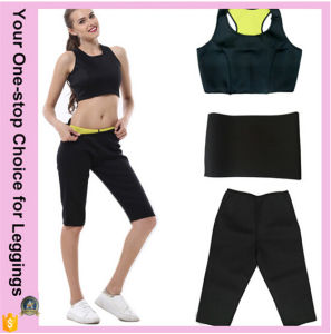 Plus Size Hot Thermo Lady Women Sweat Sauna Sexy Slimming Shaper Short Yoga Fitness Neoprene Pants pictures & photos