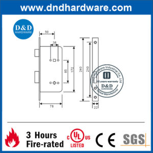 Furniture Hardware Brass Mortise Lock for Interior Door (DDML006) pictures & photos