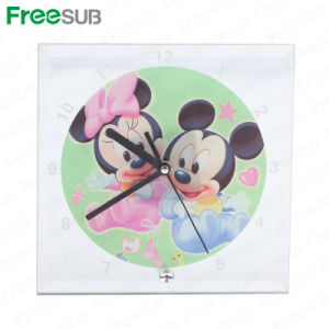 Freesub Sublimation Heat Press Glass Photo Frame with Clock (BL-14) pictures & photos