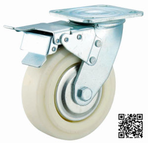 4/5/9/8 Inch Heavy Duty White Nylon Caster with Brake pictures & photos