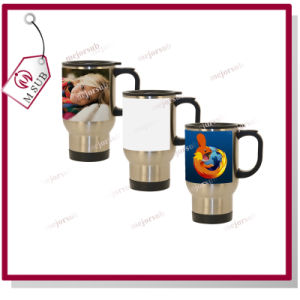 14oz White Patch Sublimation Steel Promotional Mug with Printing pictures & photos