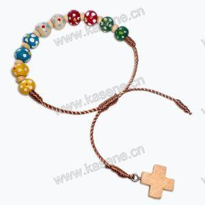 Plum Blossom Mixed Colur Cord Rosary Bracelet