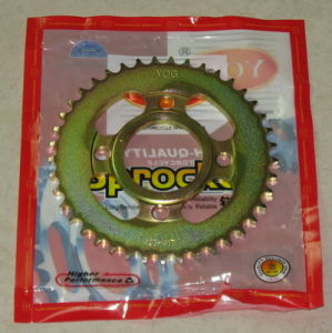 Yog Motorcycle Parts Motorcycle Rear Sprocket for Cg125 Cg150 428-41t pictures & photos