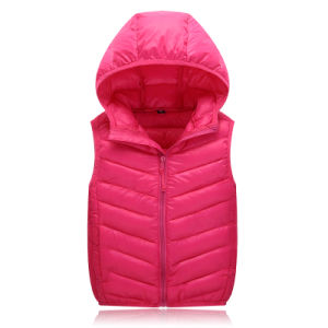 Korean Fashion Waterproof Kidsdown Vest Down Jacket 602 pictures & photos