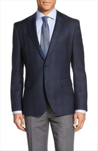 OEM Custom Design Wholesale Men′s Trim Fit Check Business Blazer pictures & photos