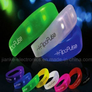 Sound Activative Silicone LED Wristbands with Logo Printing (4010) pictures & photos