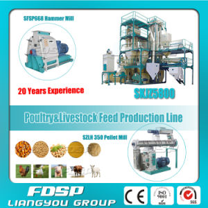 5t/H Feed Production Line with Ring Die Pellet Mill (SKJZ5800) pictures & photos