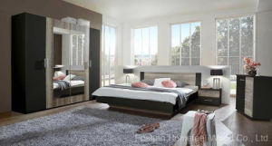 Amazing Color Mixed Wooden Bedroom Furniture Set (HF-EY08271) pictures & photos