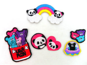 Custom Colorful Lovely Embroidery Iron-on Patch pictures & photos