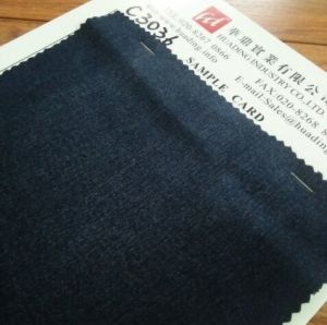 Dark Blue Twill Jeans Fabric (C3036) pictures & photos