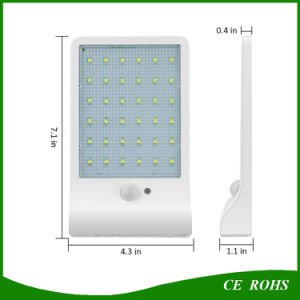 Wall Mounted Wireless Motion PIR Sensor 36 LED Solar Garden Light pictures & photos
