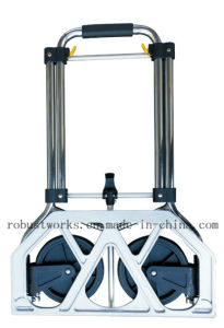 Chrome-Plated Folding Hand Trolley (HT022AC) pictures & photos