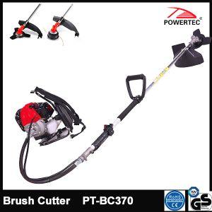 Powertec 43cc 1800W Gasoline Garden Brush Cutter (PT-BC370) pictures & photos