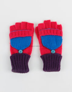Knitted Acrylic Warm Jacquard Gloves/Mittens with Pocket pictures & photos