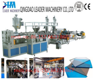 UV Protected Polycarbonate PC Solid Sheet Extrusion Line pictures & photos