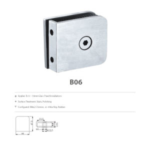 Shower Door Hardware Stainless Steel Glass Clamp (B06) pictures & photos