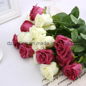 PU Artificial Rose Wedding Flower for Decoration (SW01503)