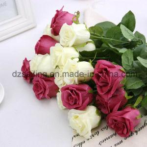 PU Artificial Rose Wedding Flower for Decoration (SW01503)