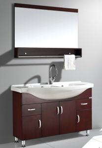 Wood Veneer Bathroom Vanity #Yjb-2012 (30) pictures & photos