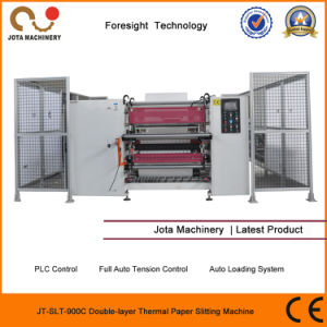 Double Layer POS Paper Slitter Rewinder Thermal Jumbo Roll Slitter pictures & photos