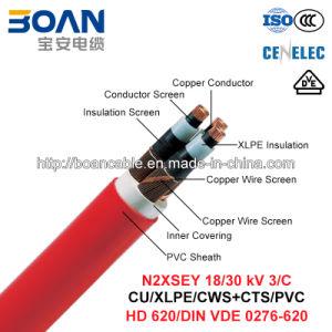 N2xsey, Power Cable, 18/30 Kv, 3/C, Cu/XLPE/Cws/PVC (DIN VDE 0276-620) pictures & photos
