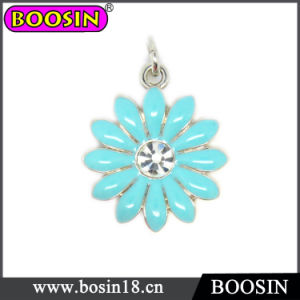 High Quality Alloy Enamel Flower Charm #17781 pictures & photos