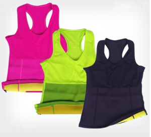 Fashion Women Workout Slimming Sweat Tops (50251-2) pictures & photos