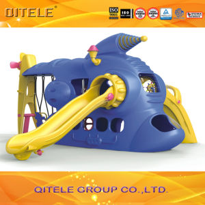 China Kids′ Indoor Playground Spaceship Plastic Slide Toy with ...