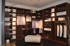 Modern Bedroom European Walk in Wooden Wardrobe Cupboard (ZH977) pictures & photos