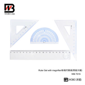 2016 Plastic Ruler Office Stationery Set with Magnifier pictures & photos