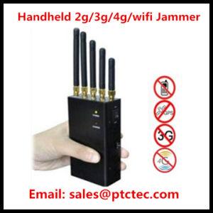 Bluetooth WiFi Signal Jammer 4G Signal Blocker Handheld Cellular Jammer pictures & photos